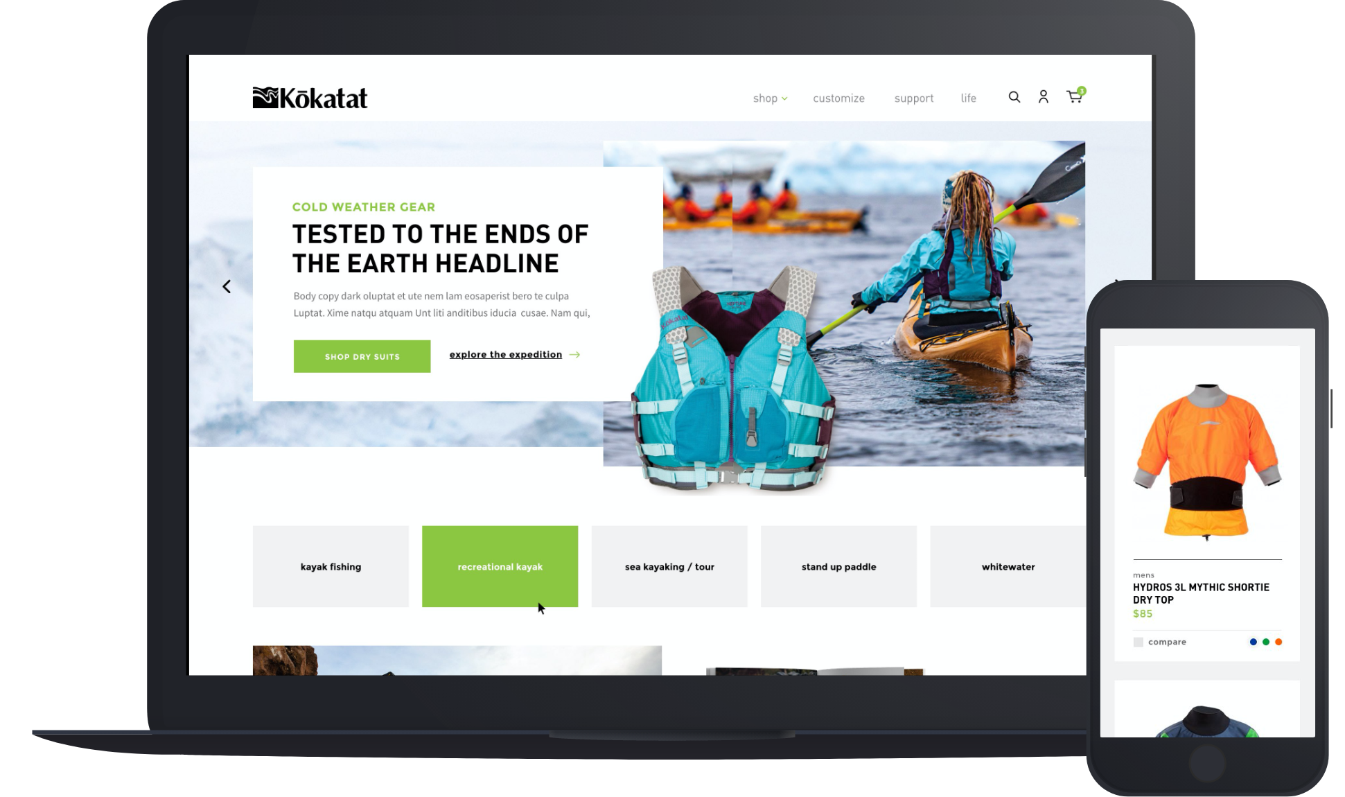 Website Redesign and BigCommerce Implementation - Kokatat