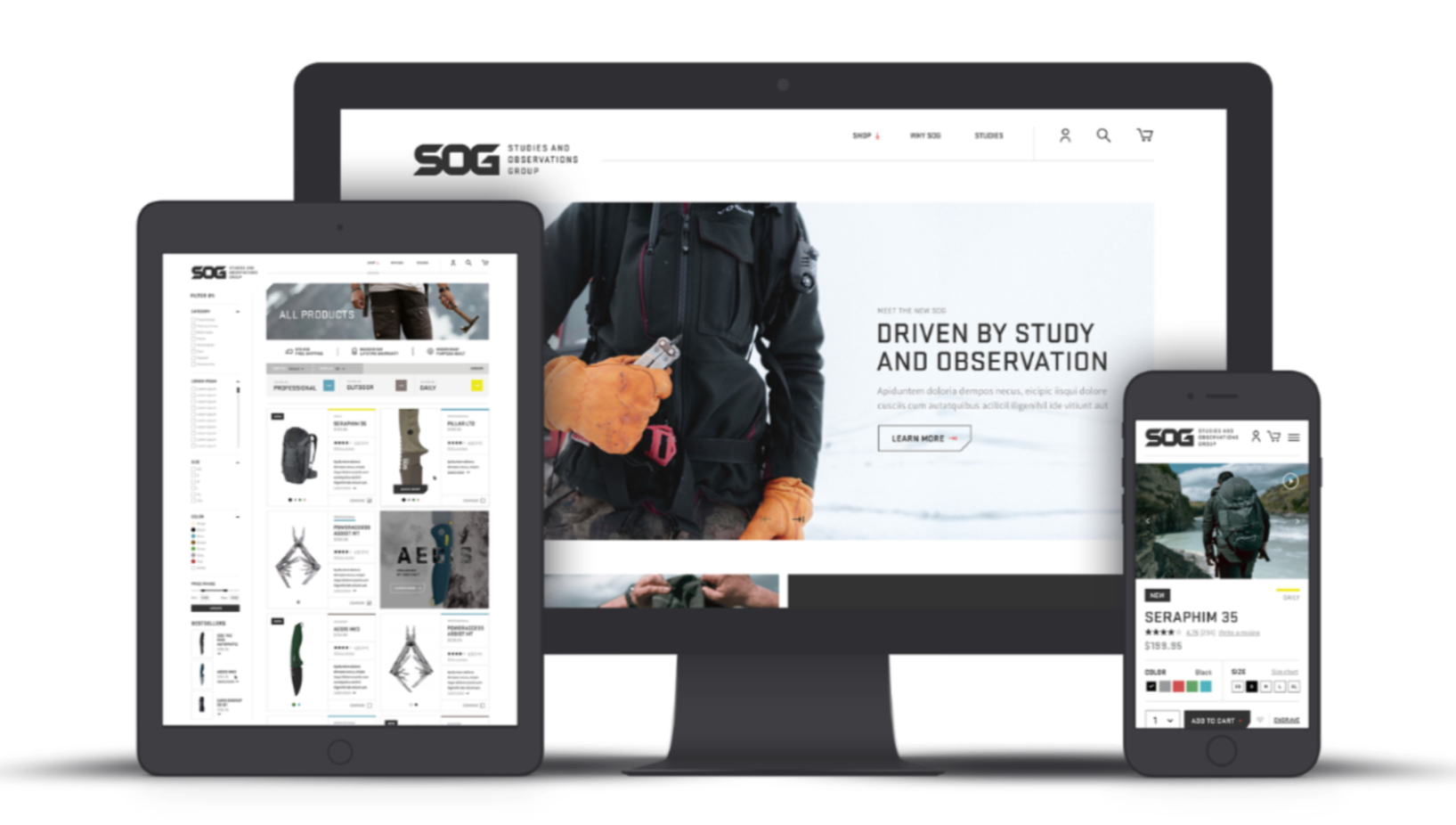 Website Redesign and BigCommerce Implementation - SOG Knives